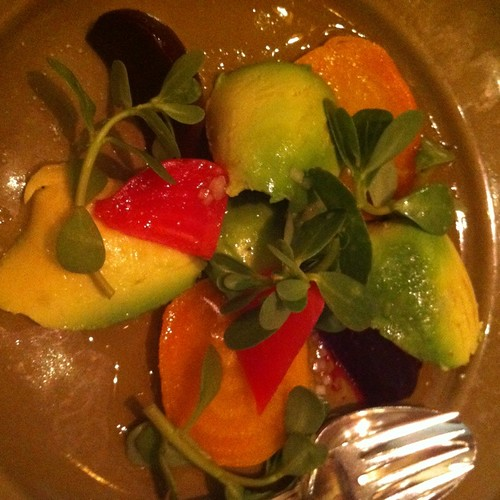 Avocado And Beet Salad @ Chez Panisse