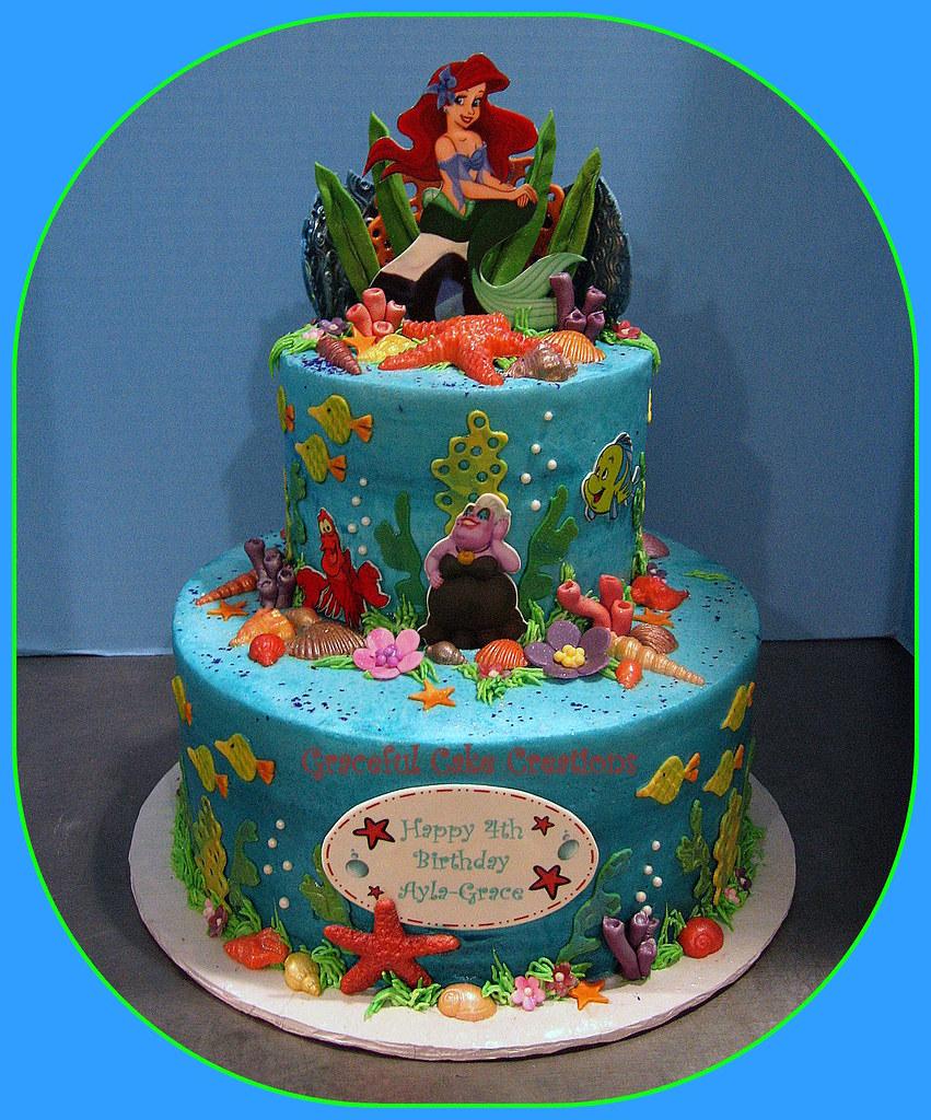 Ariel Little Mermaid Birthday Cake A Photo On Flickriver