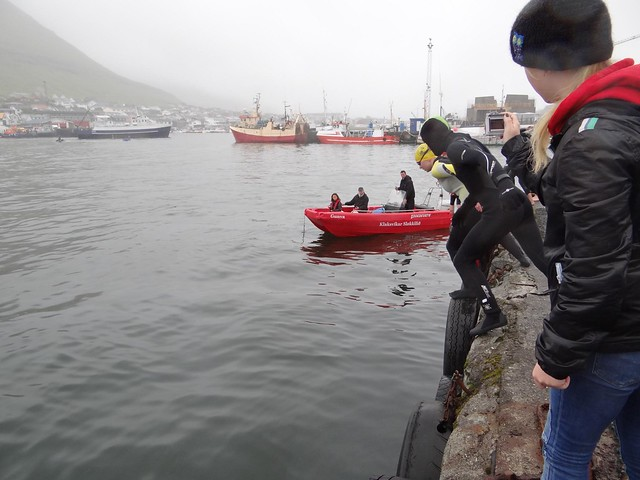 2012 Swim Across the Bay of Klaksvík start position