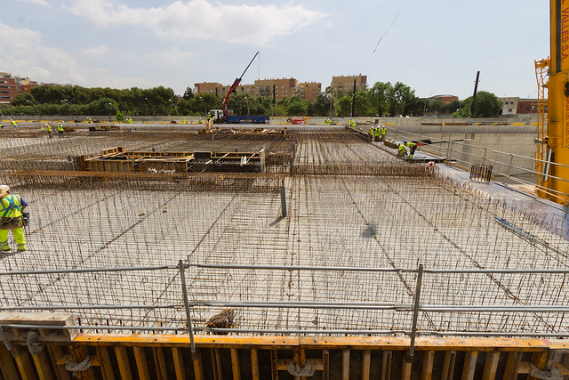 Forjado de la cubierta de la nueva estación de Sant Andreu - 05-06-12