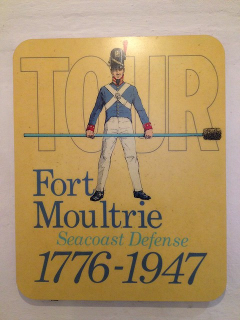 Fort Moultrie Tour sign