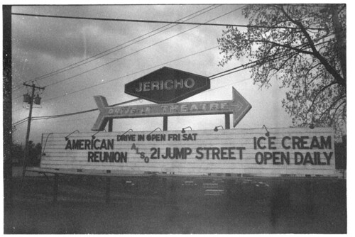 Jericho Drive-in Marquee 2012 BW LR