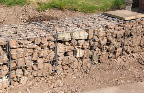 Gabions this time last year