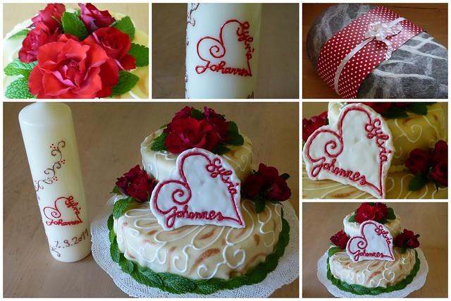 Torte und Kerze