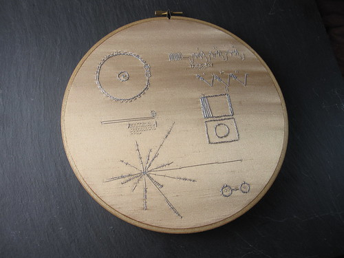 Voyager record embroidery