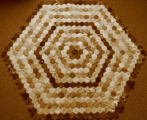 hexies 13 rings sepia