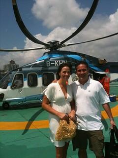 Chopper to Macau for our 10th Wedding Anniversary.