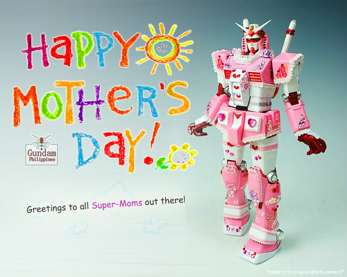 happy mother's day girlie pink gundam rx-78-2