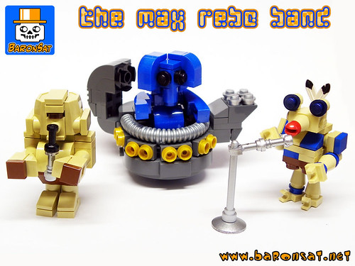 MinilandBricks Max Rebo Band