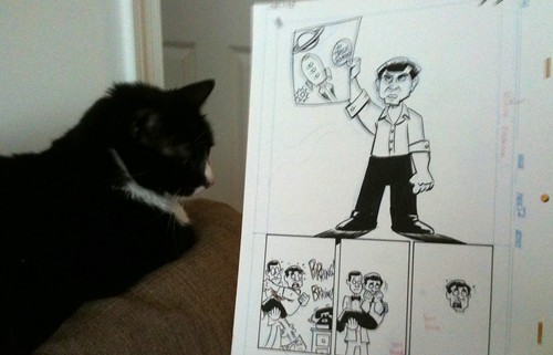 Roscoe enjoys Comic Book Comics Jack Kirby art