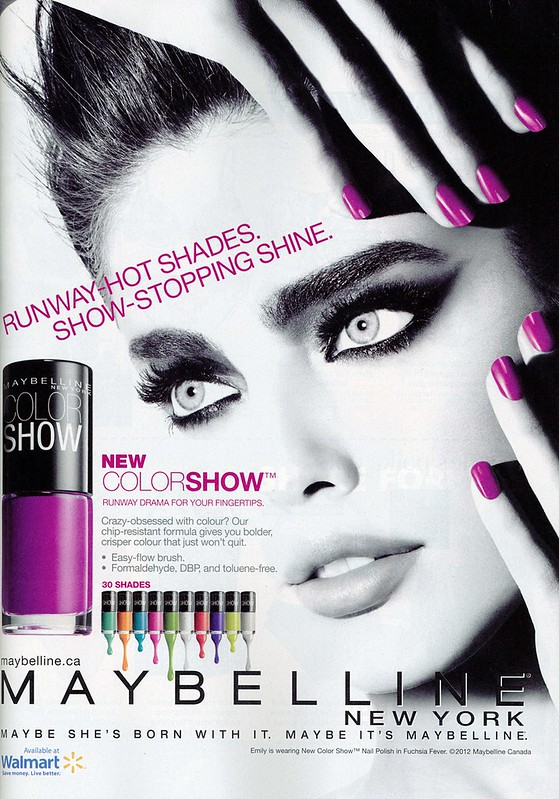 Maybelline Color Show nail ad