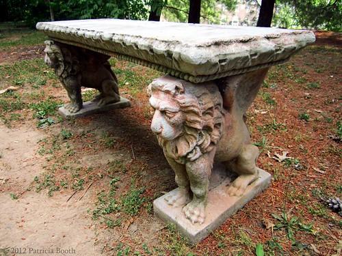Day 151 Lion Gargoyle Bench by pixygiggles