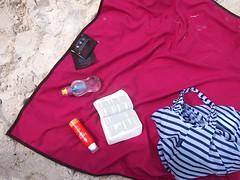 Lagu Beach blanket   Sunblock   Bible   Booble   Baggu bag. Rawa Island