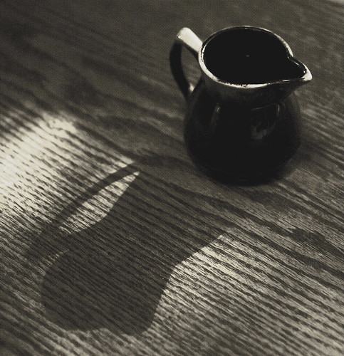 Empty Creamer and Shadow