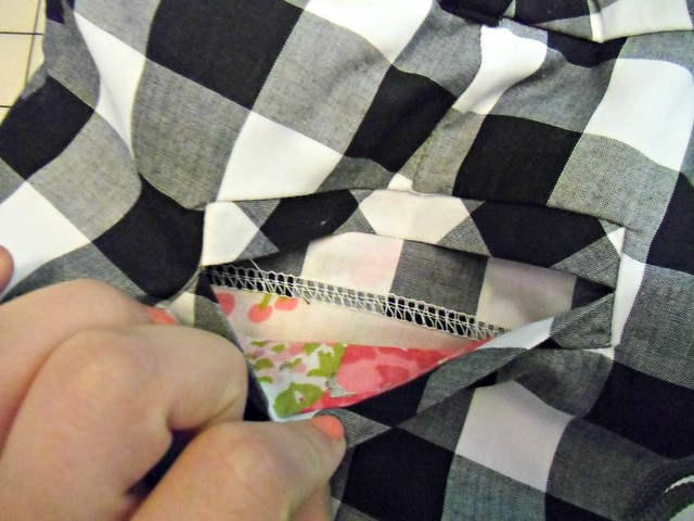 Gingham Shorts - inside welt pocket
