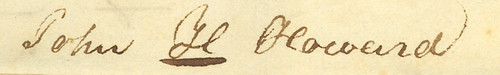 John H. Howard's signature, 1832