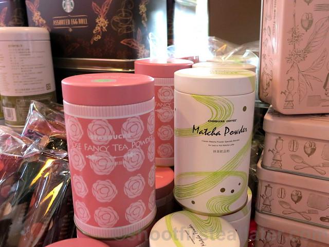 Starbucks Taipei 14th Anniversary sale- rose fancy tea powder & matcha powder