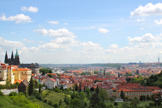 Looking out over Prague