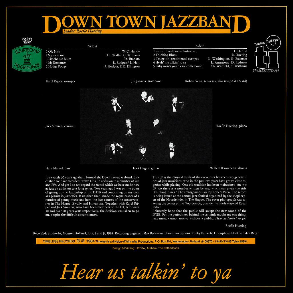 Down Town Jazzband - Hear Us Talkin' To Ya