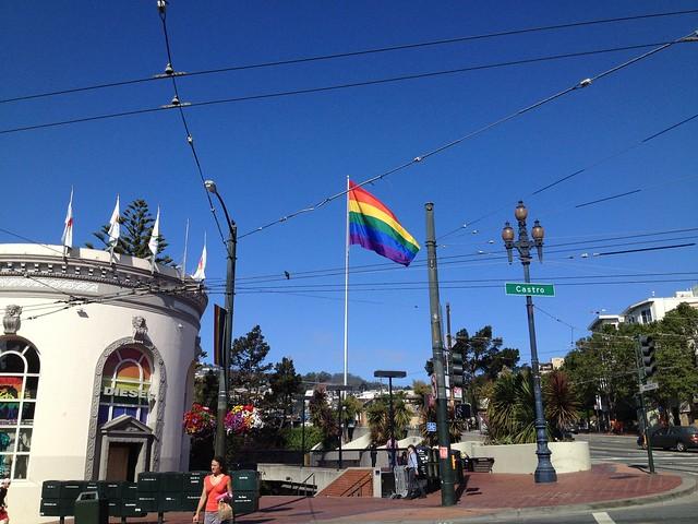 The Castro rainbow flag