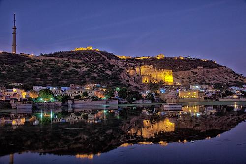 Night View of  Taragarh Fort