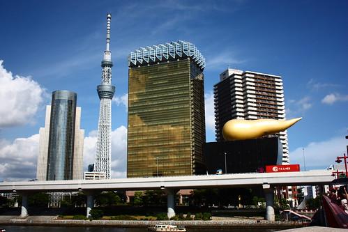 Tokyo Sky Tree & Asahi Breweries Golden Flame