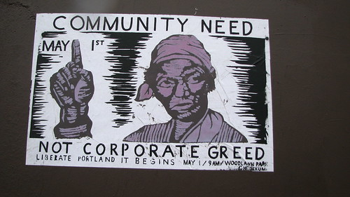 Community Need Not Corporate Greed by vj_pdx