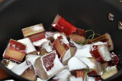 Rhubarb and sugar