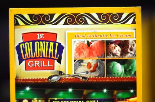 Colonial Grill Menu
