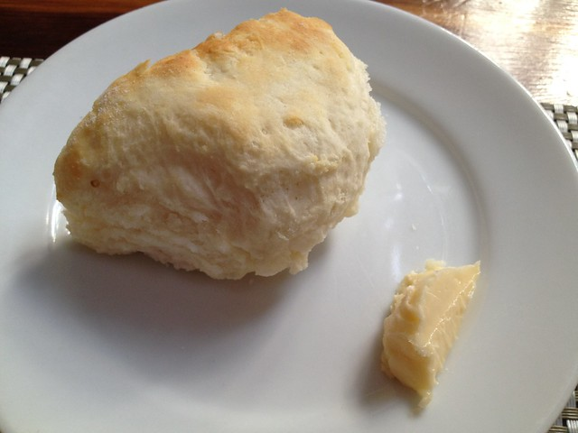 Home made biscuit and honey butter - Poogan's Porch