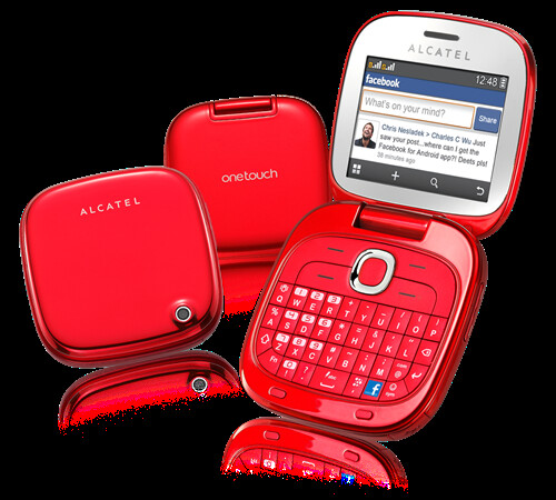 ALCATEL ONE TOUCH GLAM 810D RED