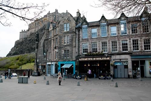 Just one of may cute street scenes in Edinburgh