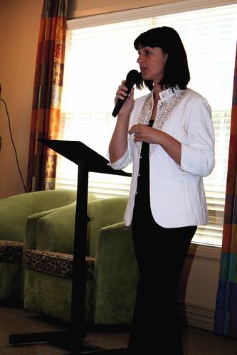 Marga speaking at the Gates of Ballston Community Center