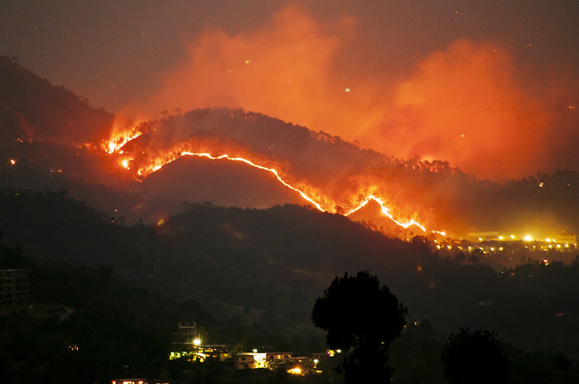 More Fires in the Himalayas - Solan Rajgarh HIlls photo photography Anoop Negi