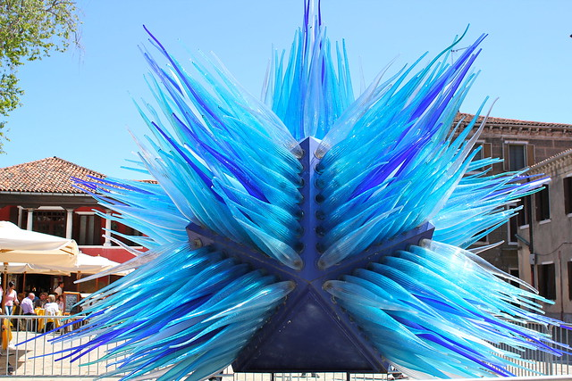 Glass art in the square