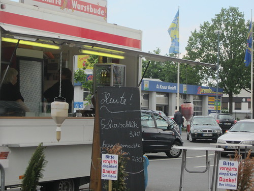 German sausage stall