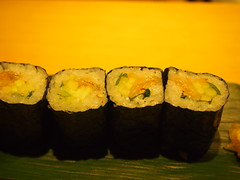 Maki - Scallop skirt (mantle), cucumber and shiso leaf