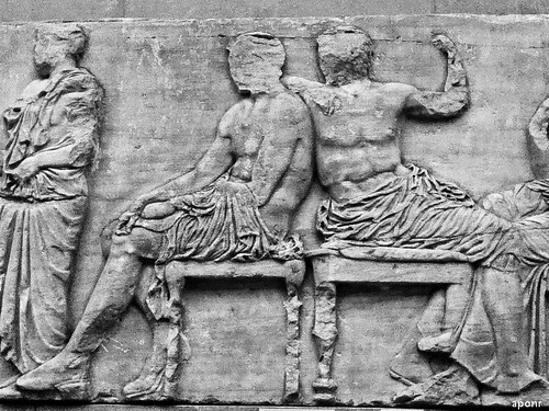 Hermes Dionysus east frieze of the Parthenon