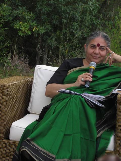 Vandana Shiva no Rincão Gaia