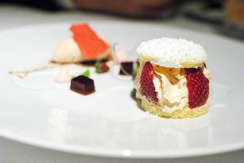"""Strawberry Shortcake"" Foie Gras Ice Cream"
