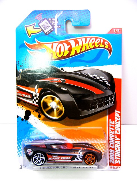 hot wheels 2009 corvette stingray concept blk (1)