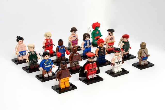 Street Fighter 2 minifigs - complete roster