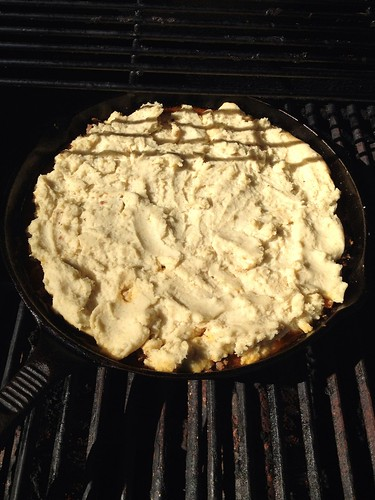 "Gluten free tamale pie - before ""baking"" it on the grill"