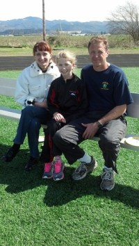 familiy photo at a recent track meet.
