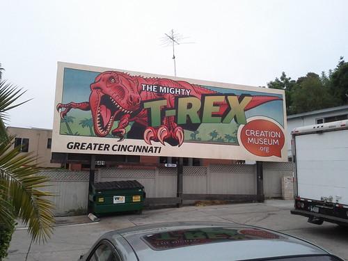 T-rex billboard ad