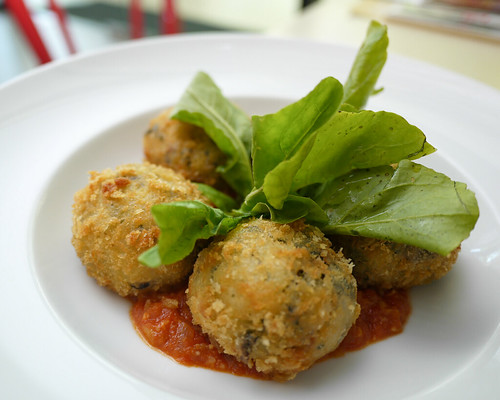 Wild Mushroom and Mozzarella Risotto Ball at Tuscano Italian Wood Oven Pizza & Restaurant