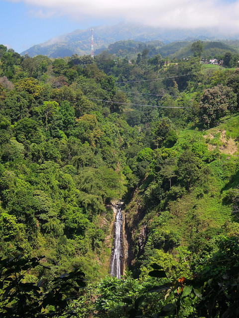 A waterfall on the way from Bromo to Ijen