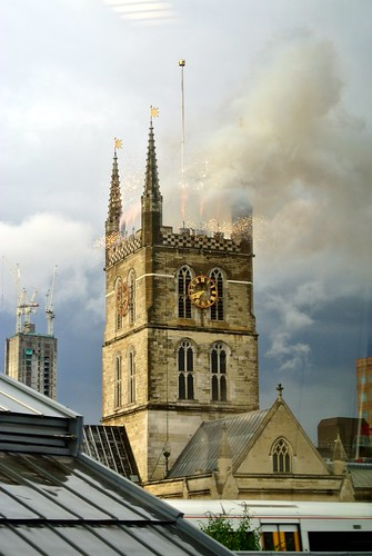 Southwark Cathedral Fireworks - 10th July 2012 - Day 41