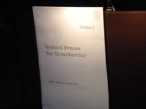 Der Rosenkavalier Primo violino