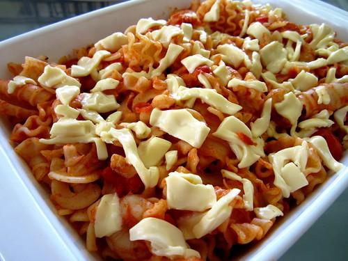 STP's prawn cheese pasta